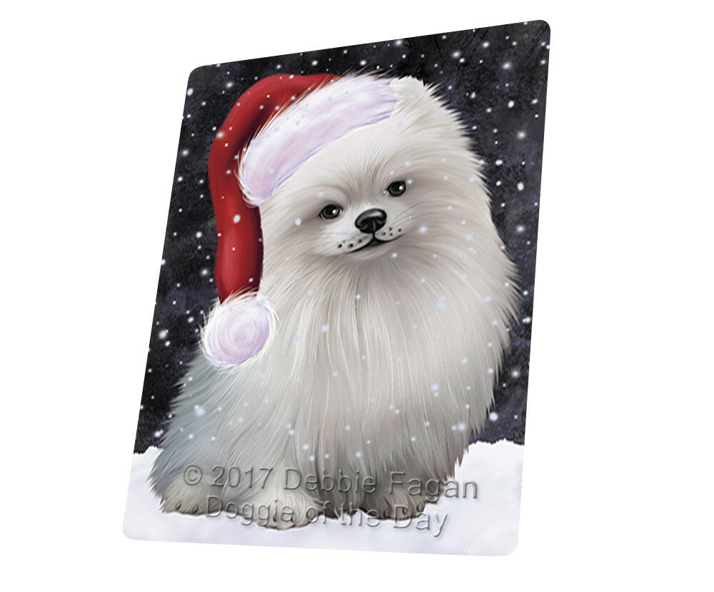 Let it Snow Christmas Holiday Pomeranians Dog Woven Throw Sherpa Blanket T106