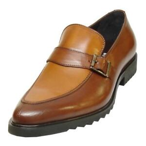 FI-3247 Genuine Brown/Tan Leather Encore by Fiesso Slip on Loafer