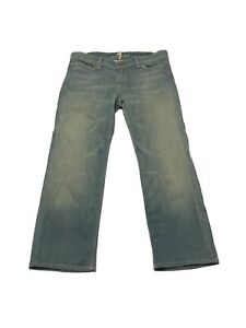 7-for-all-Mankind-Flynt-Women-s-Size-30-Light-Wash-Crop-Jeans