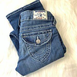 True-Religion-Low-Rise-Boot-Cut-Jeans-Women-039-s-Size-25-Medium-Wash