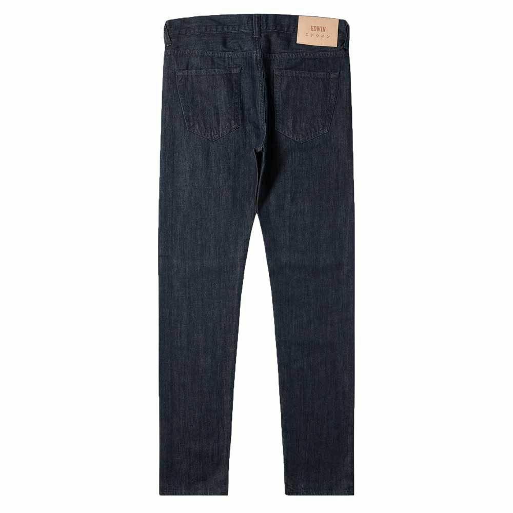 Edwin ED-80 Slim Tapered Jeans Kingston bluee Denim - Rinsed