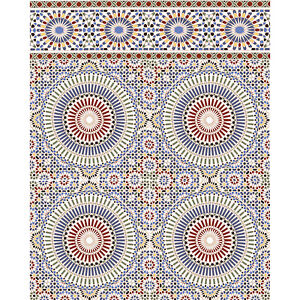 marokkanische fliesen wandfliese bunt motiv orientalisch. Black Bedroom Furniture Sets. Home Design Ideas