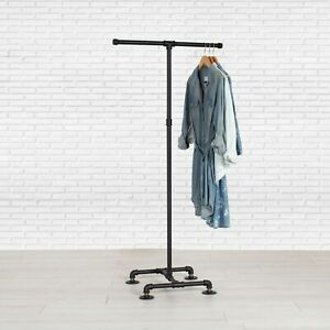Details about Industrial Pipe Clothing Rack 2,Way by William Robert\u0027s  Vintage