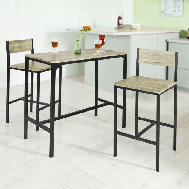 SoBuy OGT03 - Tavolino da Bar Alto con 2 Sedie, per la Cucina