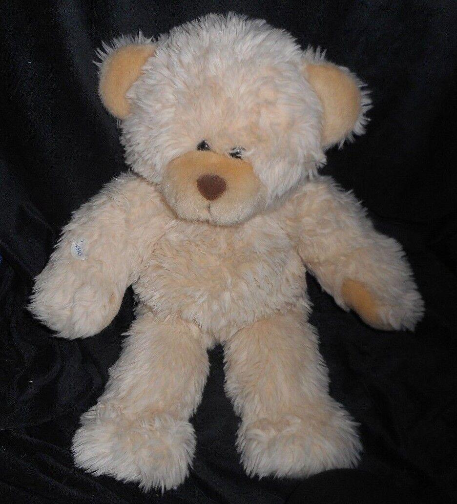 BUILD A BEAR RETIrot 1997 HUG ME TEDDY CREME FUZZY STUFFED ANIMAL PLUSH TOY BABW