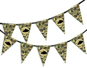 Happy-Birthday-Green-Army-Camouflage-Military-Tank-Bunting-Banner-15-flags