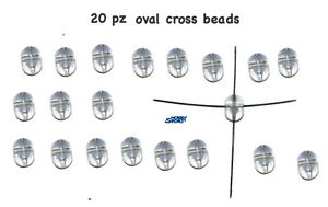 OVAL BEADS 4 FORI MISURA MEDIA 4X6,5 20 PZ - Italia - OVAL BEADS 4 FORI MISURA MEDIA 4X6,5 20 PZ - Italia