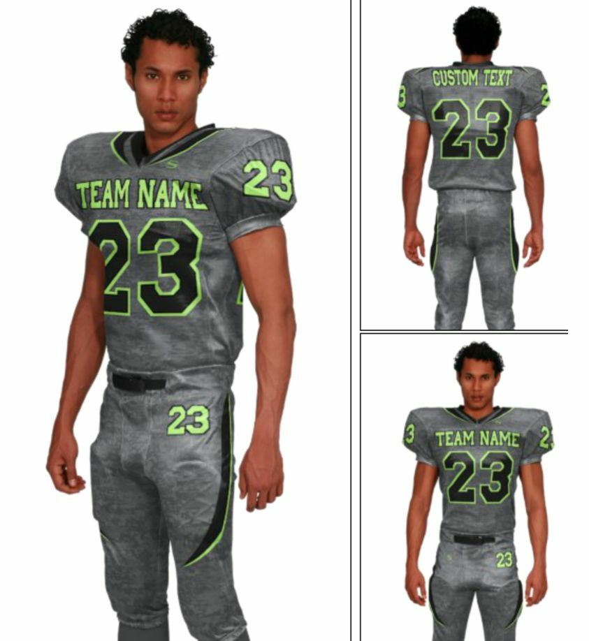 Sublimated digital camo includes all text and optional pants, select colors