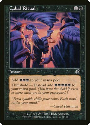 Cabal Ritual Torment NM Black Common MAGIC THE GATHERING MTG CARD ABUGames