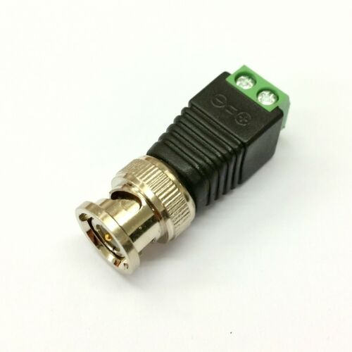 SCREW TERMINALS  EASY FIT BNC MALE CONNECTOR ADAPTER CCTV CAT5