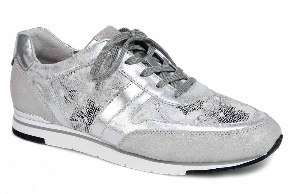 Gabor Sneaker silver ice silver metallic Leder lose Einlagen 64.321.41 NEU