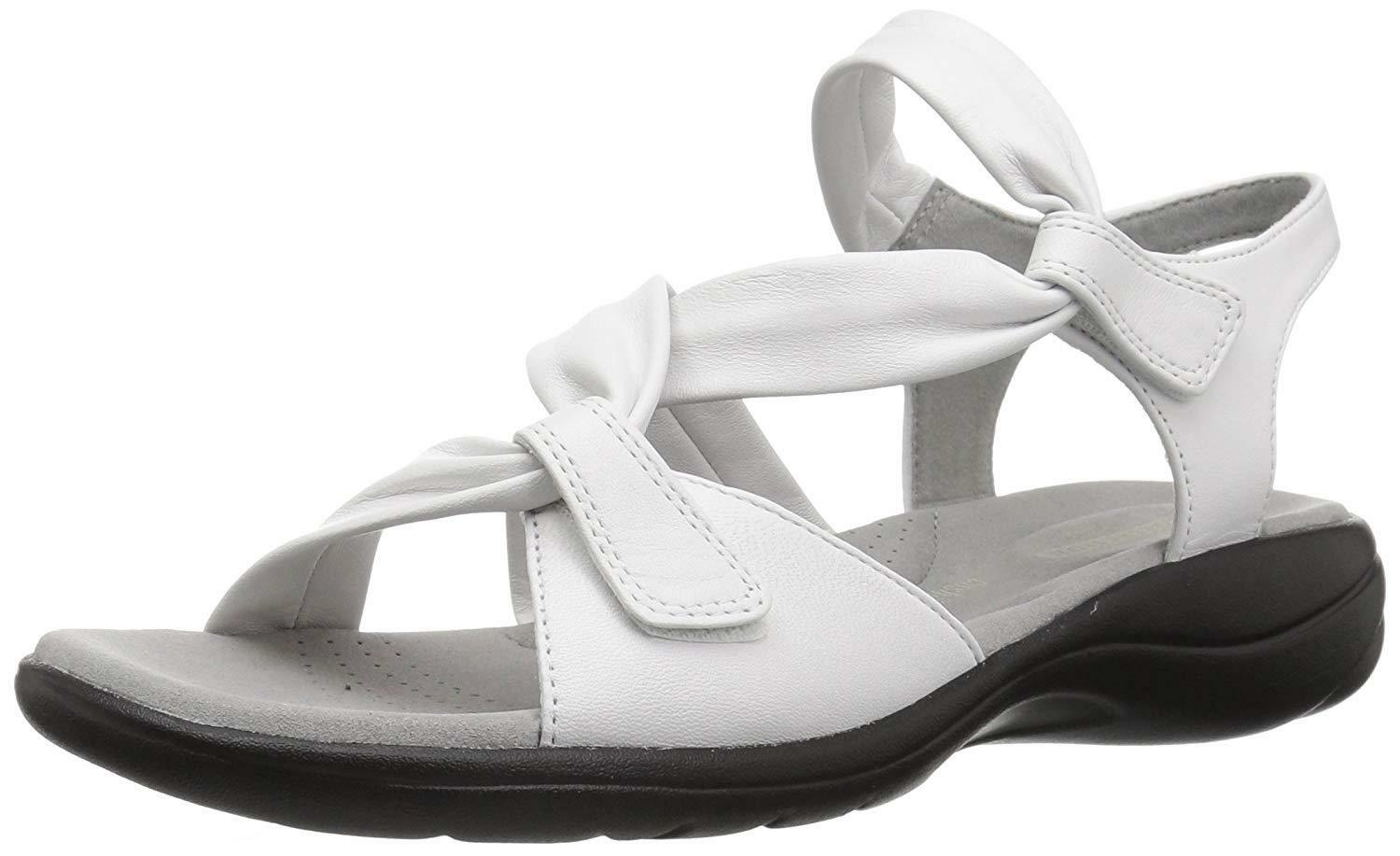 Clarks Comfort SAYLIE MOON Donna White Pelle 134450 Casual Comfort Clarks Sandals 230e20