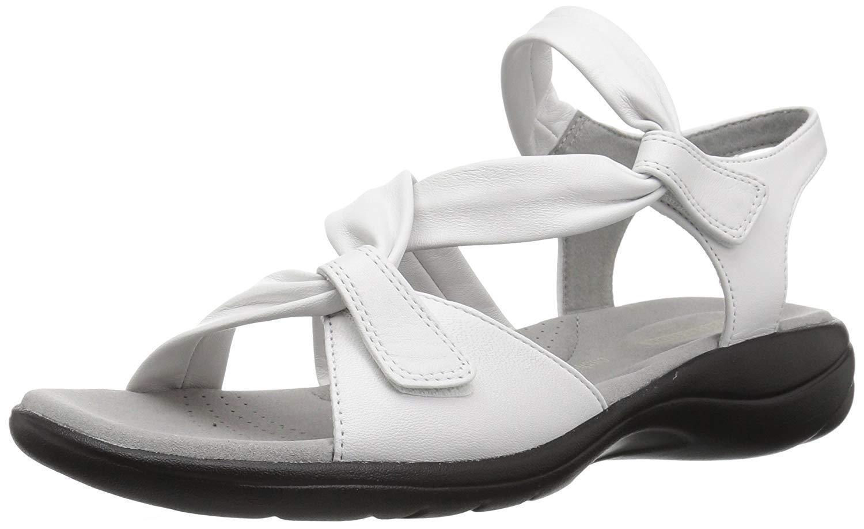 Clarks Saylie Luna Mujeres De Cuero blancoo 134450 134450 blancoo Casual Comfort Sandalias e0a8bb