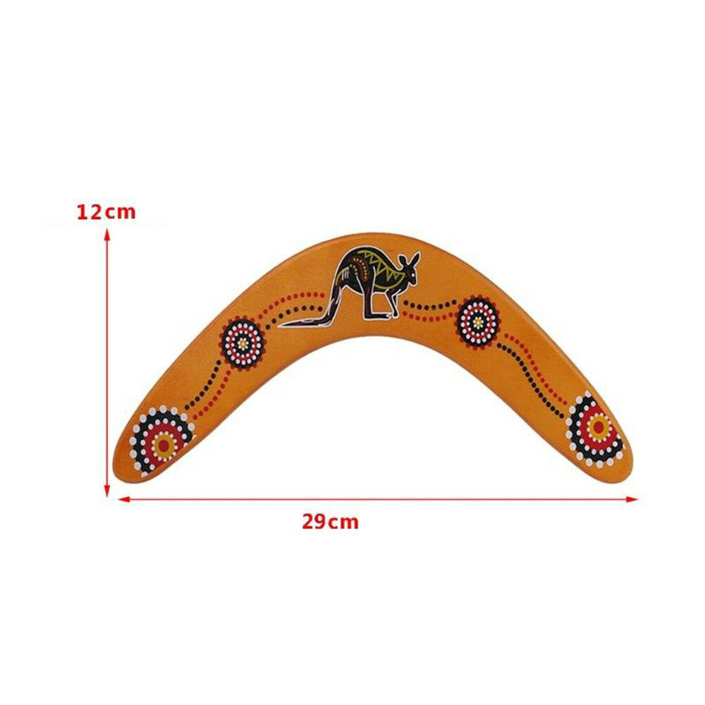 HK- Kangaroo Throwback V Shaped Boomerang Flying Disc Throw Catch Outdoors Game Other Outdoor Toys, Structures