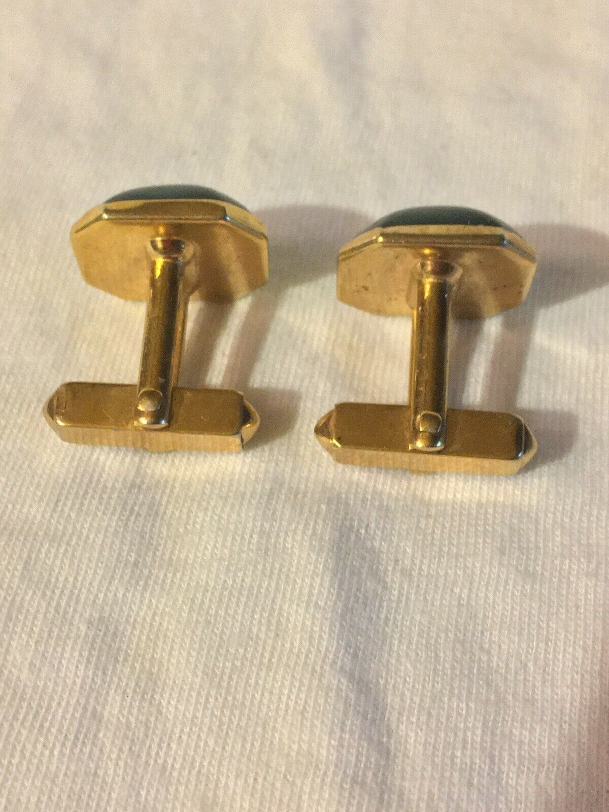 Vintage Swank Silver With Blue Lucite Cufflinks Hipster Cuff Links
