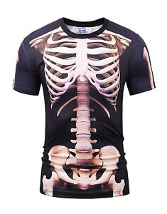 Human-Squelette-Costume-T-Shirt-Halloween-Funny-Fancy-Dress-All-Over-Print