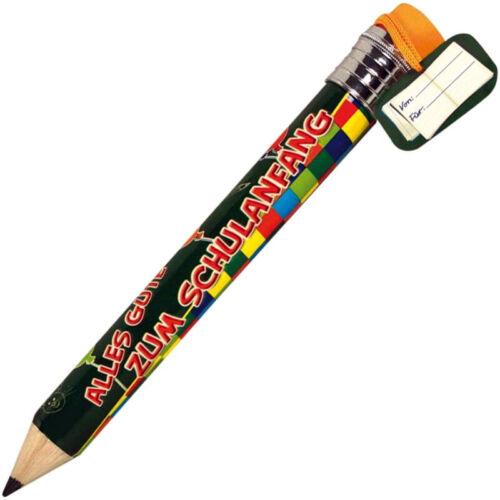 3x XXL BLEISTIFT Jumbo Mega Bleistifte Einschulung Schule Radierer Stift Stifte