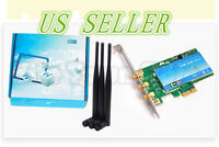 450mbps Pci -e Wifi Wireless Card Adapter Antennas For Desktop Laptop Pc +6dbi