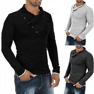 Men-039-s-Fashion-Tops-Slim-Fit-Casual-Fashion-T-shirts-Polo-Shirt-Long-Sleeve-Tee