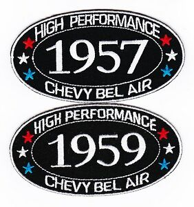 1957-1959-CHEVY-BEL-AIR-SEW-IRON-ON-PATCH-BADGE-EMBLEM-EMBROIDERED-CAR