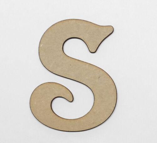 En Bois Lettres Décoration Craft Shape Toy Box nom 200 mm Victorian Letter #20