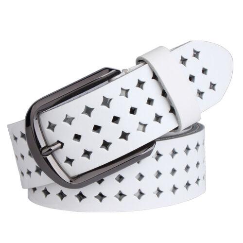 Women Ladies Cow Genuine Leather Hollow Western Desinger Belts Pin Buckle