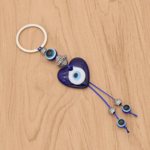 Vintage Evil Eye Keyring Charm Alloy Pendant Heart Life Tree Elephant Keychain