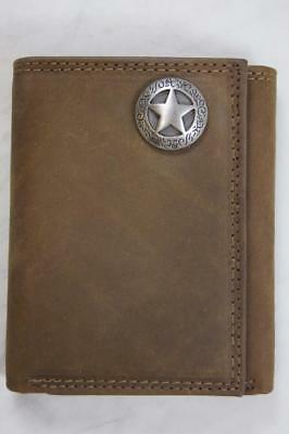 ZEP PRO Texas Longhorns Crazy Horse Leather bifold Wallet Tin Gift Box