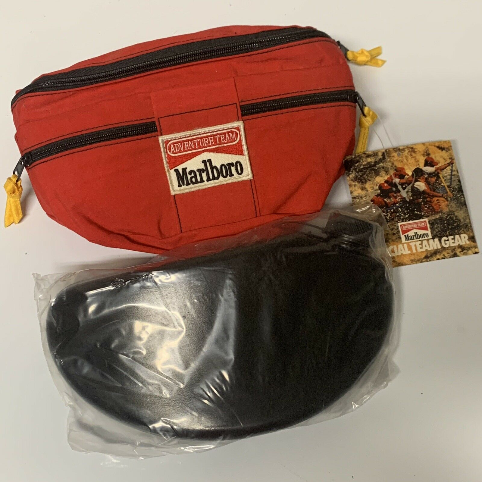 NWT VTG Marlboro Adventure Team Fanny Pack + Sealed Water Bottle Canteen NOS 90s