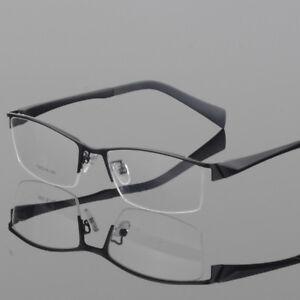 07d333a49fe Image is loading Men-Metal-Half-Rimless-Myopia-Eyeglasses-Frames-Optical-