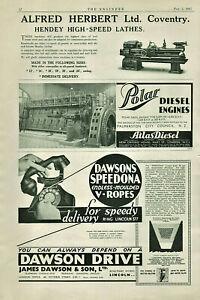 Vintage-Advertisement-Print-James-Dawson-amp-Son-amp-BTH-amp-Silentbloc-The-Engineer