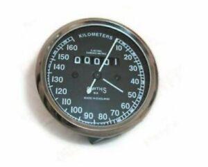 Vintage-Smiths-0-160-hembras-Velocimetro-Negro-Royal-ENFIELD-BSA-Norton