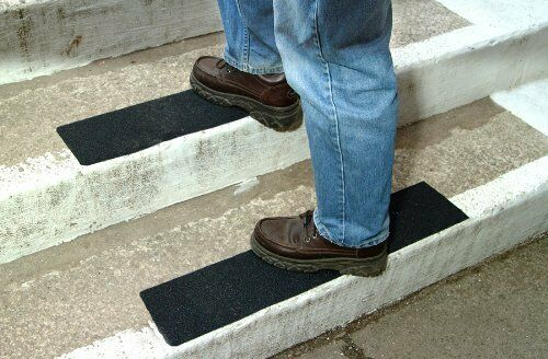 Black Safety Anti Skid Tape High Traction Indoor Outdoor Non Slip Stair Treads