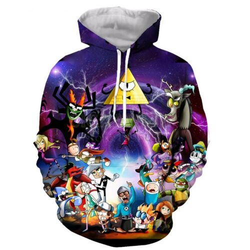 Fashion Women//Men Cartoon Gravity Falls 3D Print Casual Sweatshirt Hoodies H18