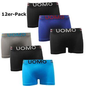 Garcia-pescara-Men-039-s-Retro-Uomo-Boxer-Shorts-Seamless-Pants-12er-Pack-Size-M-L