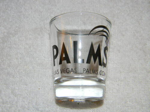 Las Vegas Casino shot glass-Logo on Front-Collectible displayed only Palms