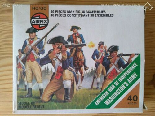 Plastic toy soldiers airfix h0//00 washington/'s army cluster