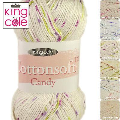 King Cole Cottonsoft Crush DK Double Knit Knitting Crochet Wool Yarn 100g Ball