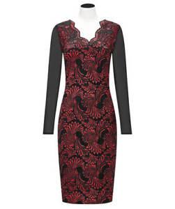 Joe Browns | Lavish Lace Dress | Black/Red | UK Size 14 | BNWT