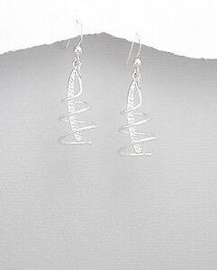 Stunning-sterling-silver-earrings-in-matt-look-Womens-jewellery