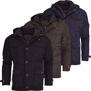 Mens-Military-Field-Jacket-Double-Layer-Hooded-Detachable-Hood-Smart-Casual-Coat
