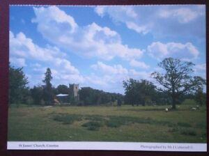 POSTCARD-CAMBRIDGESHIRE-CROXTON-ST-JAMES-CHURCH