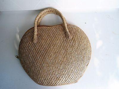 Damen Tasche aus Stroh, mit Futter, Reiseverschluß, Neu