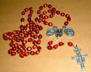 FRANCISCAN-CROWN-Rosary-27-in-NIB-Catholic-St-Francis-NEW-Mary