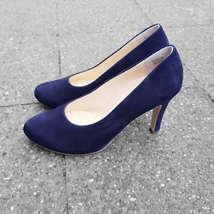 superior quality f5572 bf19a Details zu Paul Green elegante Damen High Heels Pumps Schuhe blau Samt  Leder 2834 NEU