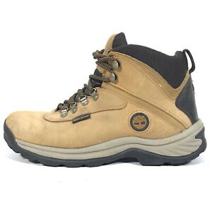 c66b5bbd71c Details about Timberland 8.5 Men's White Ledge Mid Waterproof Hiking Boots  Nubuck 14176