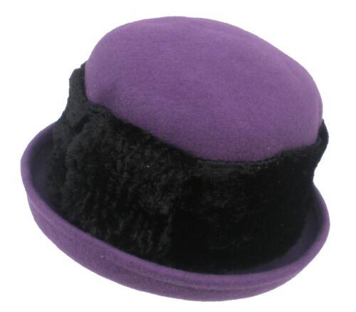 Damen Wollhut Farbauswahl Damenhüte Anlasshüte Damenmützen Herbst Winter