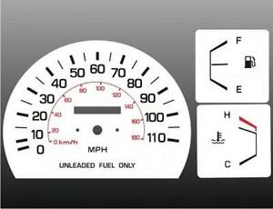 1984-1988-Toyota-Truck-Dash-Cluster-White-Face-Gauges-84-88