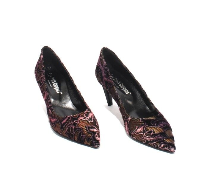 Les Trois Garcons 80154 multiColor de cuero cuero cuero terciopelo Puntiagudo Tacones Zapatos 40 US 10 aa7f26