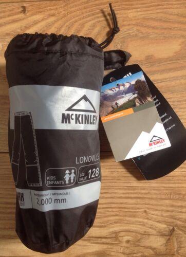 Black Sizes 98//104//116//128 cm BNWT McKinley Childrens Waterproof Trousers